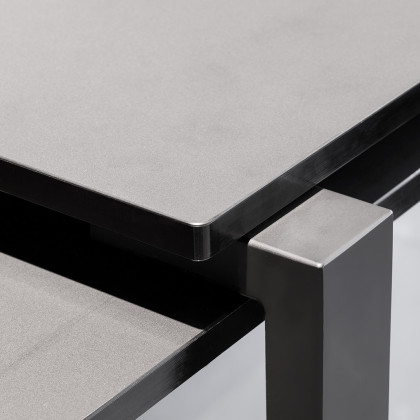 cassina table. jean nouvel. FENIX NTM and glass.
