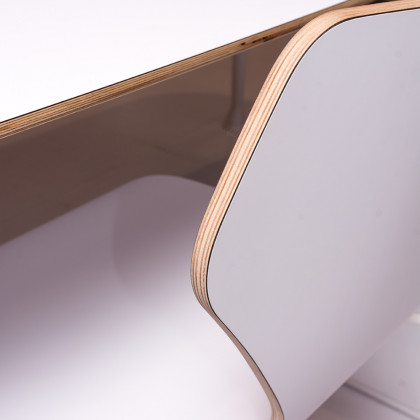 chairs and table made of FENIX NTM BIANCO bended.