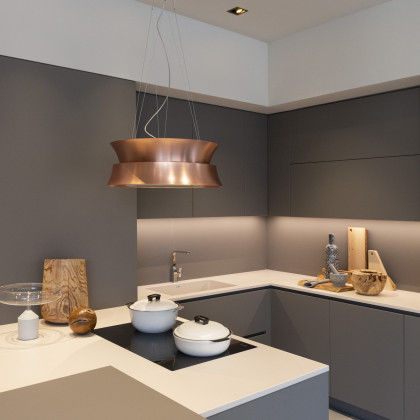Milan Design Week 2019 | kitchen worktop and cabinets in FENIX NTM.