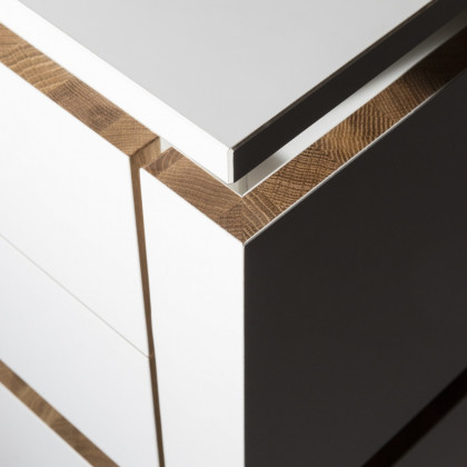 Milan Design Week 2018 | kitchen details in FENIX NTM Bianco Kos and wood.