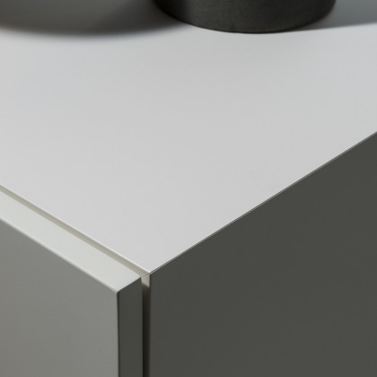 Milan Design Week 2018 | MDF Italia. Detail in FENIX NTM Bianco Malé.