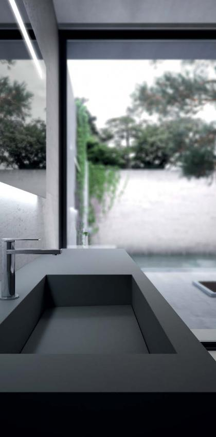 sink in FENIX NTM. Bathroom collection. Sense by IDEAGROUP.