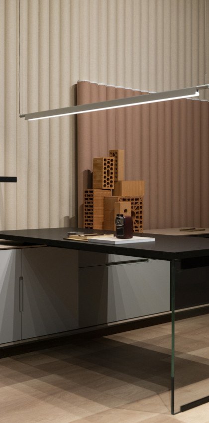 Milan Design Week 2019 | desktop made of FENIX NTM Nero Ingo.