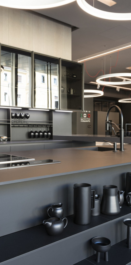 Milan Design Week 2018 | Arrital kitchen all black.