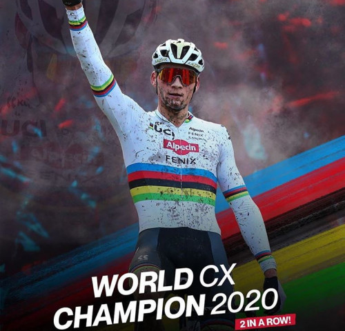 Van der Poel wins third UCI Cyclo-Cross Elite World Championship