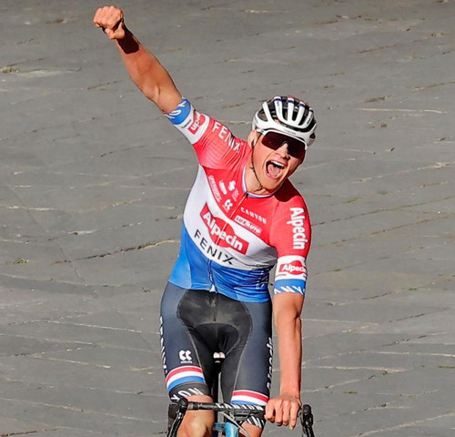 Mathieu van der Poel vins the 15th edition of Strade Bianche